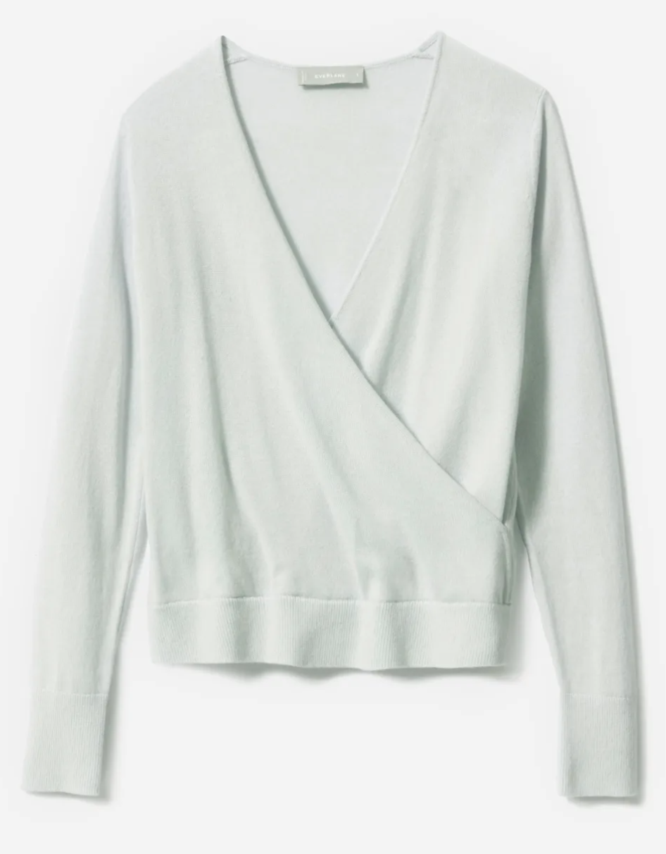 Everlane Women's The Cashmere Wrap Sweater in Ice Blue