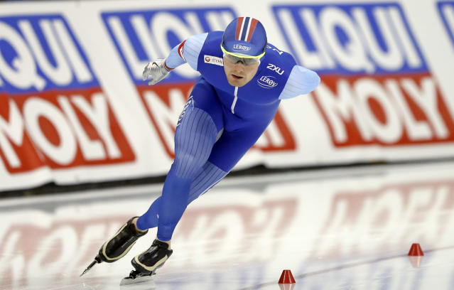 Blue speedskating uniforms are going to be very popular at the 2018 Winter Olympics. (AP Photo)