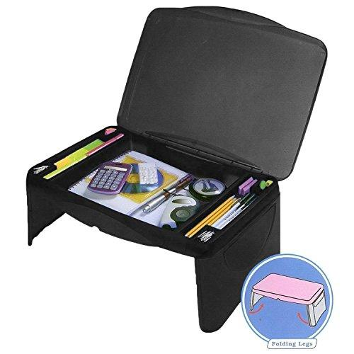 Folding Lap Desk, laptop desk, Breakfast Table, Bed Table, Serving Tray - The lapdesk Contains Extra Storage space and dividers, & folds very easy,great for kids, adults, boys, girls (Amazon / Amazon)