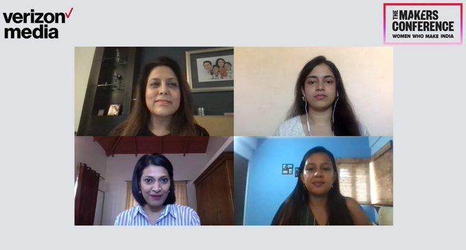 Tithi G Tewari, Founder and MD, Trezi; Arunima Sen, STEM Designer and Innovator; and Madhurima Agarwal, Director - Engineering Programs and Leader, NetApp Excellerator during the panel discussion.