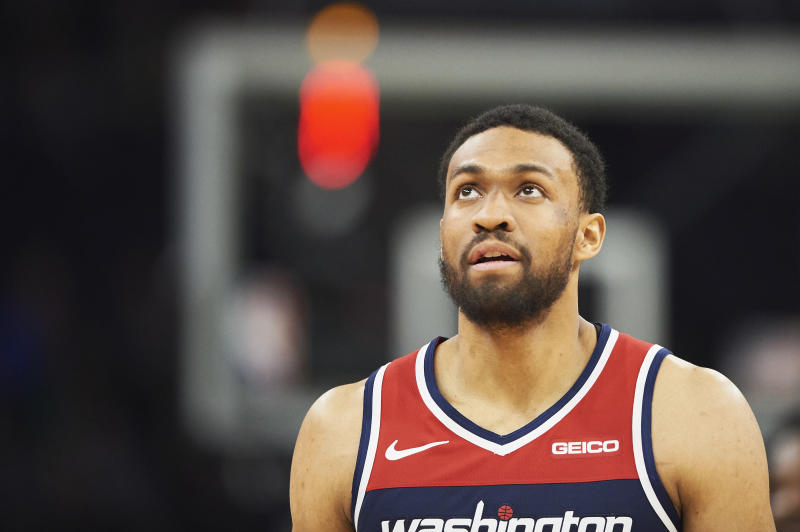 MINNEAPOLIS, MN - MARCH 09: Jabari Parker #12 of the Washington Wizards looks on during the game against the Minnesota Timberwolves on March 9, 2019 at the Target Center in Minneapolis, Minnesota. NOTE TO USER: User expressly acknowledges and agrees that, by downloading and or using this Photograph, user is consenting to the terms and conditions of the Getty Images License Agreement. (Photo by Hannah Foslien/Getty Images)