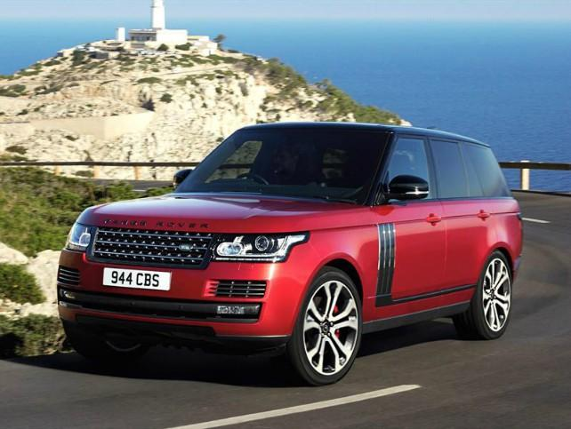 Red Land Range Rover
