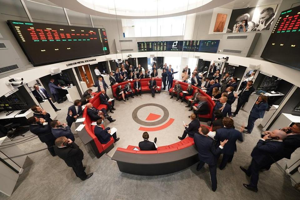 The London Metal Exchange reopened to traders on Monday (Yui Mok/PA) (PA Wire)