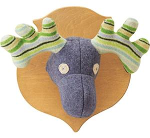 Upcycled Sweater Moose Head