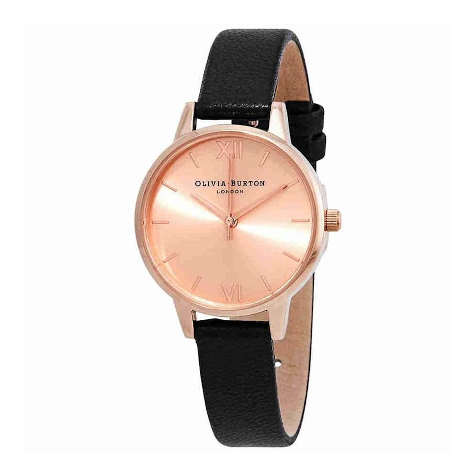 "<p>We love a good rose gold accessory, and this <a href=""https://www.popsugar.com/buy/Olivia-Burton-Midi-Rose-Dial-Watch-381470?p_name=Olivia%20Burton%20Midi%20Rose%20Dial%20Watch&retailer=amazon.com&pid=381470&price=79&evar1=fab%3Aus&evar9=45460850&evar98=https%3A%2F%2Fwww.popsugar.com%2Fphoto-gallery%2F45460850%2Fimage%2F45460859%2FOlivia-Burton-Midi-Rose-Dial-Watch&list1=shopping%2Cgifts%2Camazon%2Choliday%2Cchristmas%2Cgift%20guide%2Cfashion%20gifts%2Cgifts%20for%20women&prop13=api&pdata=1"" rel=""nofollow"" data-shoppable-link=""1"" target=""_blank"" class=""ga-track"" data-ga-category=""Related"" data-ga-label=""https://www.amazon.com/Olivia-Burton-Ladies-Watch-OB15MD39/dp/B01A6H4OYY/ref=sr_1_16?s=apparel&amp;ie=UTF8&amp;qid=1541532823&amp;sr=8-16&amp;keywords=olivia+burton"" data-ga-action=""In-Line Links"">Olivia Burton Midi Rose Dial Watch </a> ($79) is a classic piece many people will be thrilled to get.</p>"