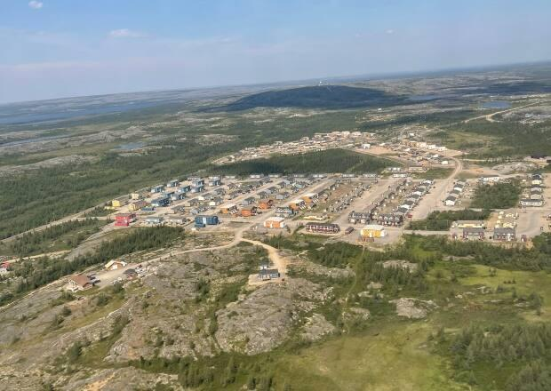 Kuujjuaq is one of several communities in Abitibi—Baie-James—Nunavik—Eeyou, the largest and northernmost riding in Quebec. Seven candidates are vying to represent the riding in this year's federal election. (Juanita Taylor/CBC - image credit)