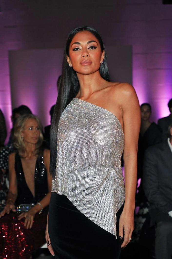 LONDON, ENGLAND - JANUARY 29: Nicole Scherzinger attends the Celia Kritharioti Spring/Summer 2020 Couture show at The British Museum on January 29, 2020 in London, England. (Photo by David M. Benett/Dave Benett/Getty Images)