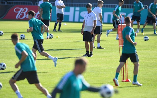 """What is it? The first outing at the 2018 World Cup for defending champions - and four-time winners - Germany, as they take on reliable old campaigners Mexico. When is it? Sunday, June 17. What time is kick-off? The action gets under way at 4pm BST. What TV channel is it on? BBC One are covering this one, with their coverage presented by Gary """"22 men chase a ball for 90 minutes and at the end, the Germans always win"""" Lineker, alongside Alan Shearer and Rio Ferdinand. Commentary comes from Jonathan Pearce and Phil Neville. World Cup 2018 Simulator Single Game Where is the game being played? Germany have the privilege of opening their campaign at Moscow's Luzhniki Stadium, the showpiece venue of the tournament and where the final will be held on July 15. World Cup 2018 stadium: Luzhniki Stadium What is the team news? Defender Jerome Boateng is expected to be fit to start for the Germans after recovering from a groin injury. His Bayern Munich team-mate Manuel Neuer - so crucial to the way coach Joachim Low wants his side to play - should also start in goal after making his comeback from eight months out in the recent 2-1 defeat to Austria. World Cup record: Germany Mexico have no reported injury problems, which suits head coach Juan Carlos Osorio's penchant for changing his team and tactics to tackle whatever strengths the opposition have. """"I think that we must be a mix of two things,"""" Osorio says. """"We must be a team who play our own strengths but also respect our opponents. Obviously, we must be loyal to our style because that is how we create our chances. I think we are on the right path."""" World Cup 2018 