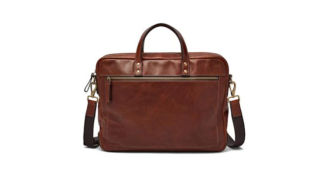 "<p>Haskell Double Zip Briefcase $298, <a href=""https://www.fossil.com/us/en/products/haskell-double-zip-briefcase-sku-MBG9342001C.html?rrec=true&recid=product1_rr-mbg9345222c-MBG9342001C-2982-2"" rel=""nofollow noopener"" target=""_blank"" data-ylk=""slk:fossil.com"" class=""link rapid-noclick-resp"">fossil.com</a> </p>"