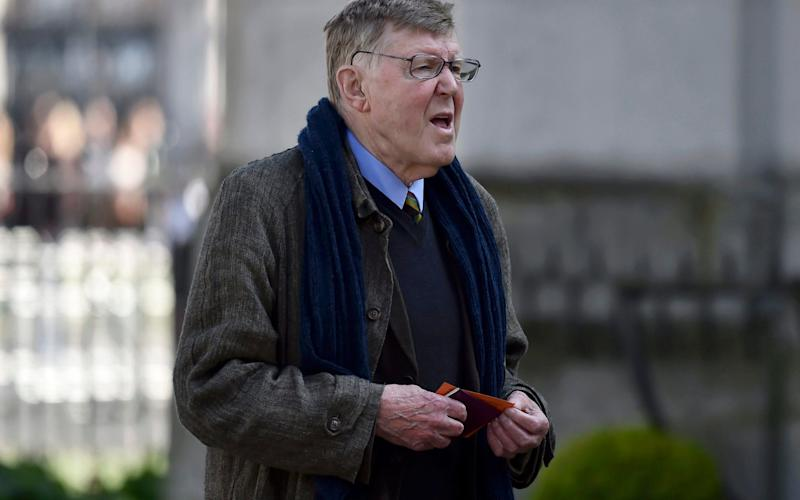 The writer Alan Bennett arriving at a Service of Thanksgiving for Lord Snowdon at St Margaret's Church, Westminster Abbey - Credit: Hannah McKay/PA