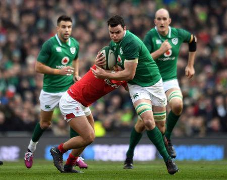 Rugby Union - Six Nations Championship - Ireland vs Wales - Aviva Stadium, Dublin, Republic of Ireland - February 24, 2018 Ireland's James Ryan in action REUTERS/Clodagh Kilcoyne