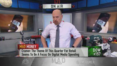 Jim Cramer gets cautiously bullish on the stock of Facebook as retailers continue to advertise on its Instagram platform and the company boosts its buyback.