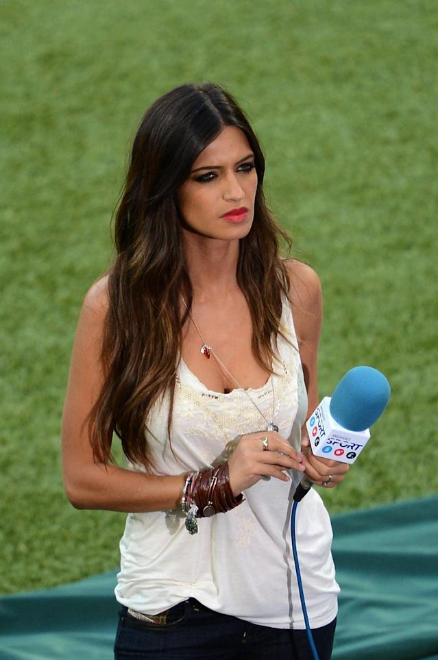Spanish television presenter and girlfriend of Spain's goalkeeper Iker Casillas, Sara Carbonero is pictured before the Euro 2012 football championships final match Spain vs Italy on July 1, 2012 at the Olympic Stadium in Kiev. AFP PHOTO / JEFF PACHOUDJEFF PACHOUD/AFP/GettyImages
