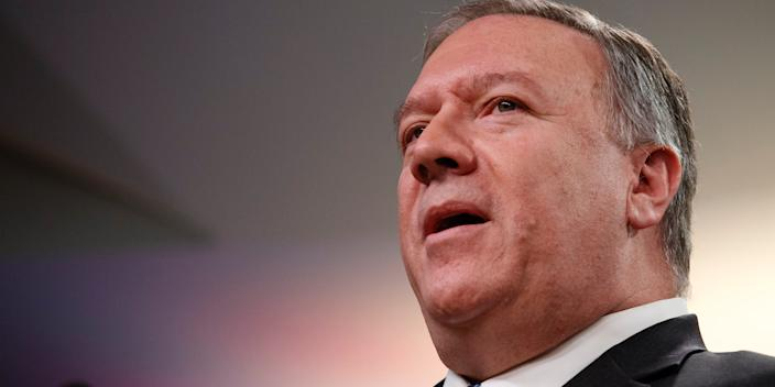 Secretary of State Mike Pompeo in January 2020.