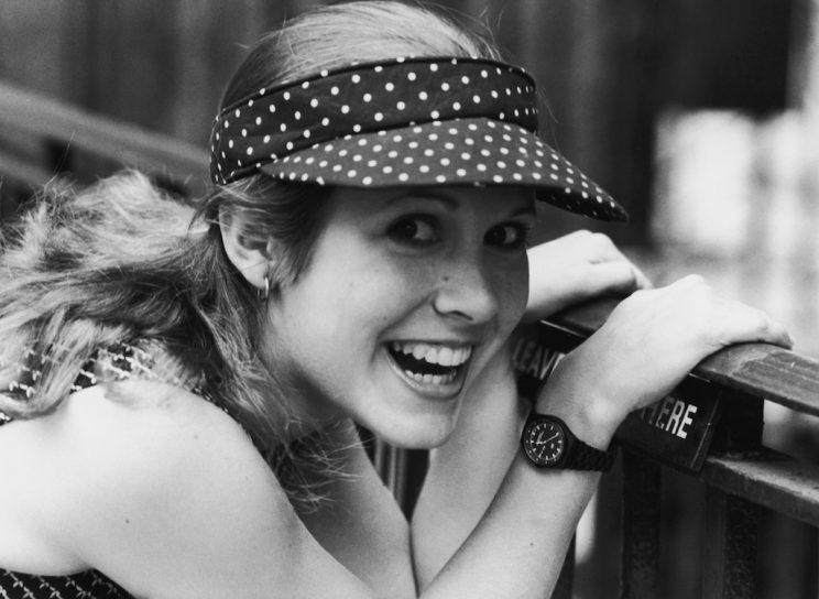 Carrie Fisher, 1980.