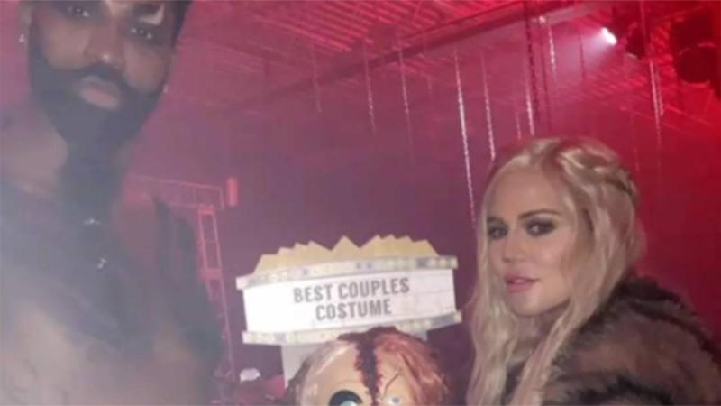 Khloe Kardashian and 'Daddy' Tristan Thompson Go Full 'Game of Thrones' for Halloween, Win Costume Contest