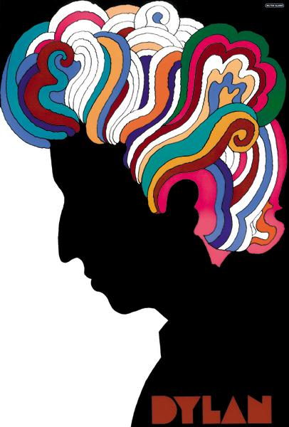 """Dylan, 1966"" by Milton Glaser in offset lithograph, 33 x 22""."