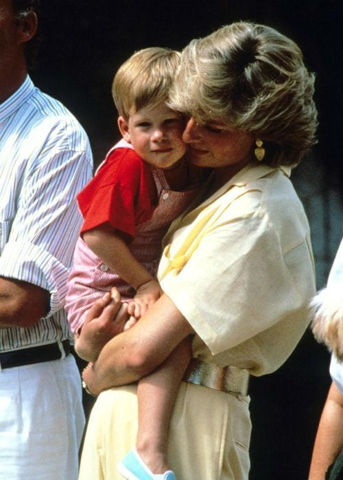 Unlike other royal moms, Diana was hands-on and affectionate, seen here nuzzling Prince Harry.