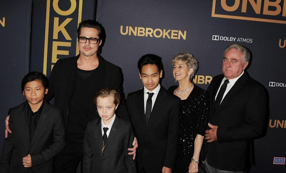"""<p>Newly divorced, Pitt turned his attention to starring in <em><a href=""""https://www.imdb.com/title/tt4758646/?ref_=nm_flmg_act_6"""" rel=""""nofollow noopener"""" target=""""_blank"""" data-ylk=""""slk:War Machine"""" class=""""link rapid-noclick-resp"""">War Machine</a></em>, a film about a United States general in Afghanistan.</p>"""