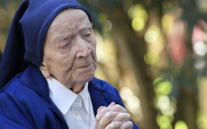 Sister Andre says she was told she had Covid but was just 'a bit tired' - NICOLAS TUCAT/AFP via Getty Images