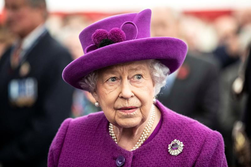 Britain's Queen Elizabeth II visits Royal British Legion Industries village in Aylesford, Britain, November 6, 2019. Richard Pohle/Pool via REUTERS