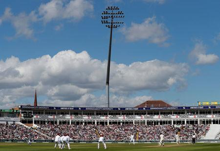 Cricket - England vs West Indies - First Test - Birmingham, Britain - August 17, 2017 General view of play Action Images via Reuters/Paul Childs