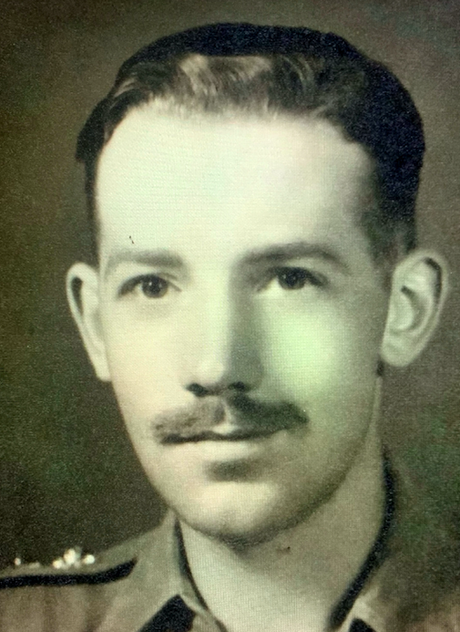Captain Tom Moore in the 145 Regiment Royal Armoured Corp. (SWNS)
