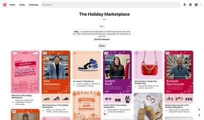 eBay's first-ever virtual Holiday Marketplace on Pinterest shines a light on nine small businesses with items ranging from collectible sneakers to one-of-a-kind luxury accessories, vintage toys, hand-drawn cards, and more.