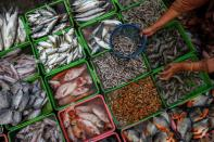 FILE PHOTO: Traditional market in Jakarta, Indonesia