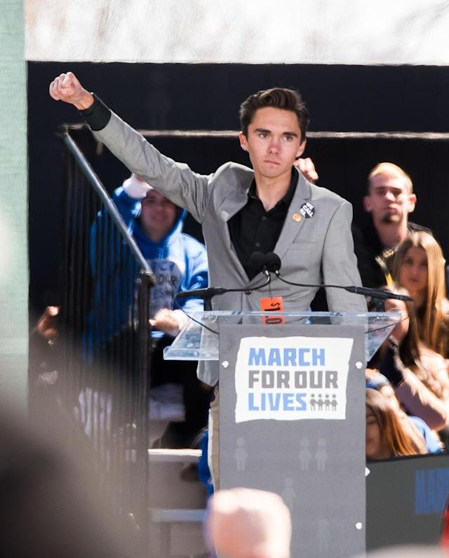 Student activist David Hogg. (Photo: Getty Images)