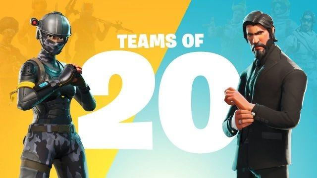 'Fortnite' announces 'Teams of 20' mode