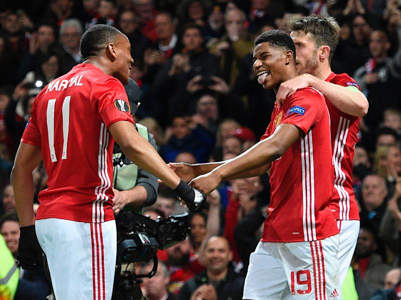Rashford was the man of the moment once again for United: Getty