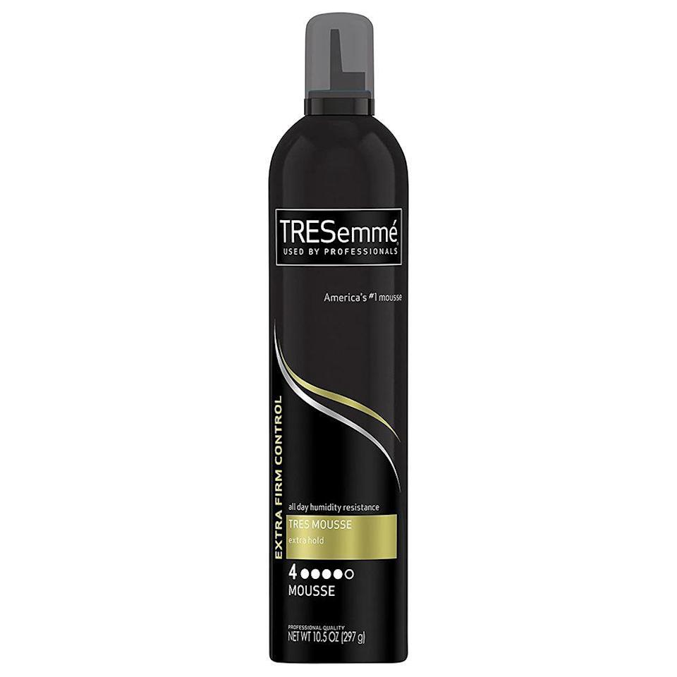 """<p><strong>Tresemme</strong></p><p>ulta.com</p><p><strong>$5.99</strong></p><p><a href=""""https://go.redirectingat.com?id=74968X1596630&url=https%3A%2F%2Fwww.ulta.com%2Ftres-two-extra-hold-hair-mousse%3FproductId%3Dprod6041164&sref=https%3A%2F%2Fwww.elle.com%2Fbeauty%2Fhair%2Fg35599042%2Ffall-2021-hair-trends%2F"""" rel=""""nofollow noopener"""" target=""""_blank"""" data-ylk=""""slk:Shop Now"""" class=""""link rapid-noclick-resp"""">Shop Now</a></p>"""
