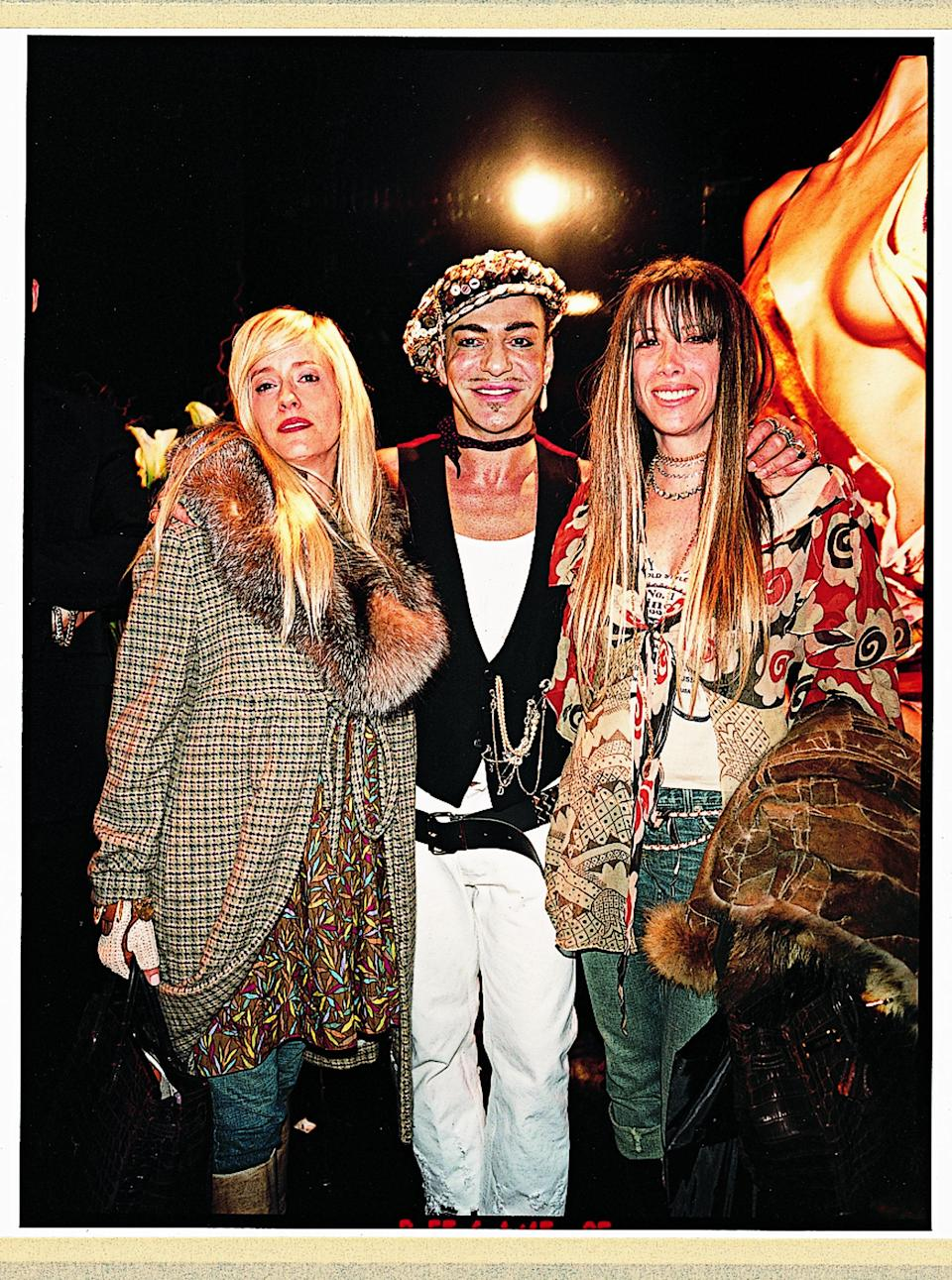 With John Galliano at Christian Dior couture.