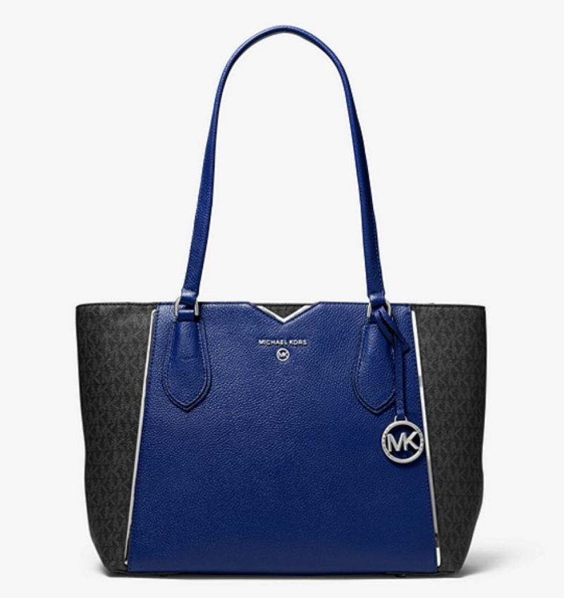 Mae Medium Pebbled Leather and Logo Tote Bag. (PHOTO: Michael Kors)