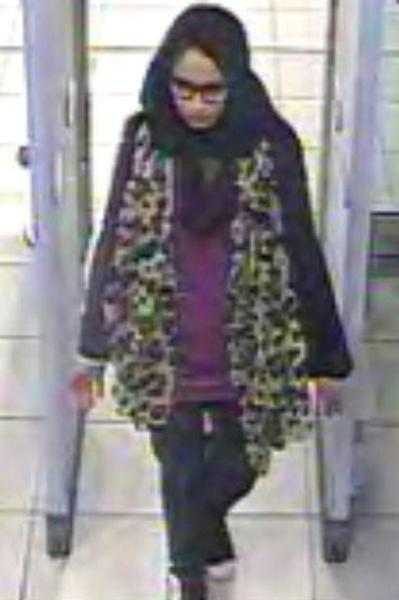 Shamima Begum, a young British woman who traveled to join the Islamic State group when she was 15, in a 2015 picture released by British police