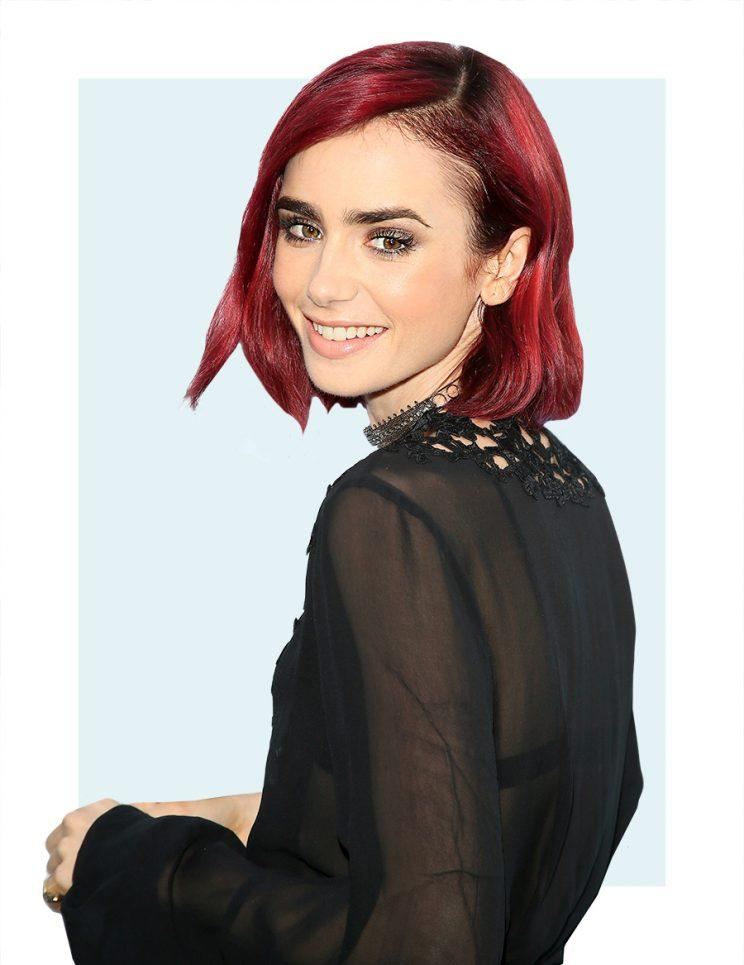 Lily Collins Doesnt Know What Her Natural Hair Color Is