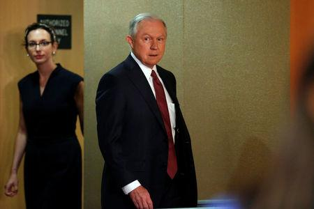 U.S. Attorney General Jeff Sessions arrives to a news conference to address the Deferred Action for Childhood Arrivals (DACA) program at the Justice Department in Washington