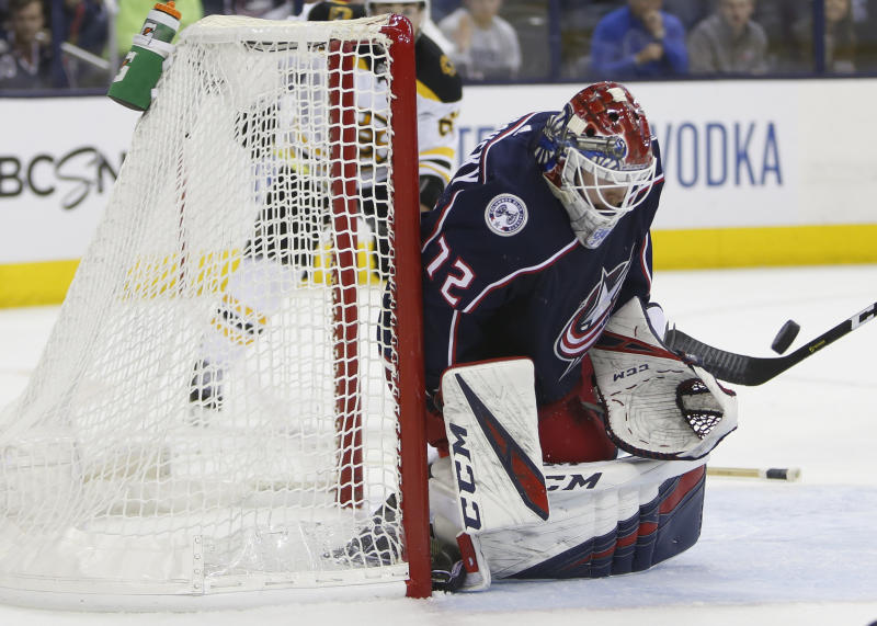 Blue Jackets' Sergei Bobrovsky makes 36 saves as Columbus beats Boston Bruins