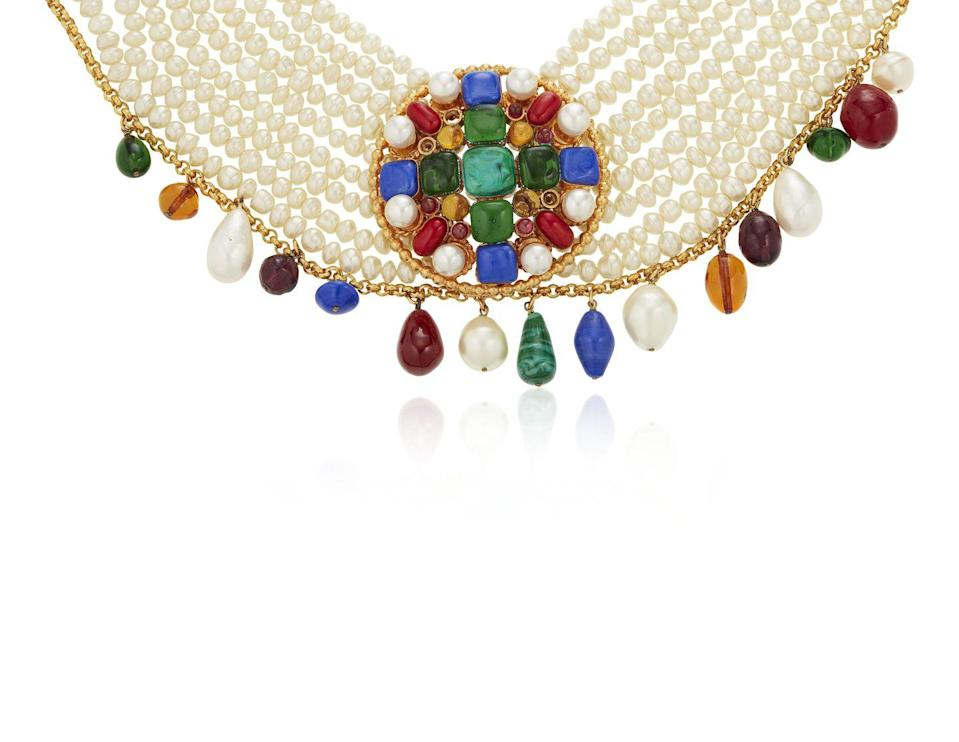 <p>This whimsically elegant layered choker necklace is estimated to be worth $1,000 to $1,500.</p>