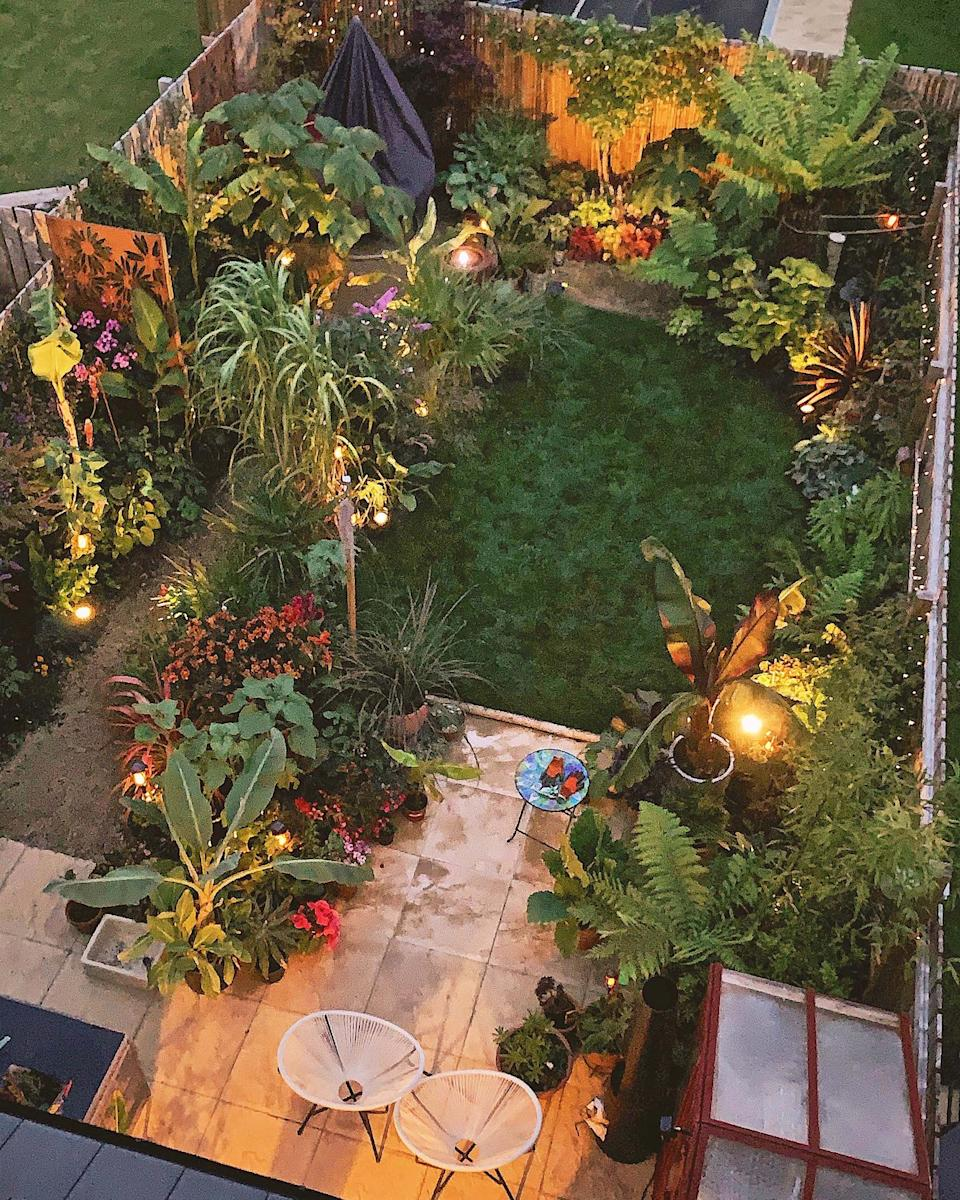 A couple in the UK have managed to transform their backyard into a tropical paradise. Photo: Caters