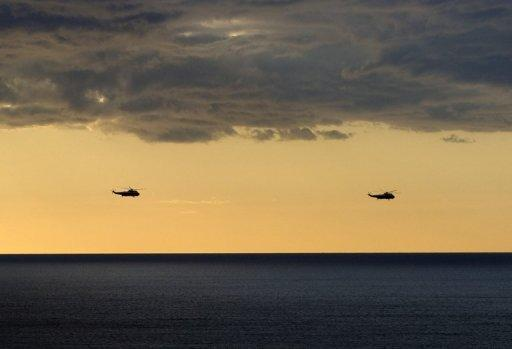 Photo illustration of helicopters flying over the Pacific Ocean. Australian scientists have discovered that an island reported to lie in the Coral Sea of the Pacific Ocean does not in fact exist. When the Southern Surveyor steamed to where it was supposed to be, it was nowhere to be found despite being shown on Google Earth