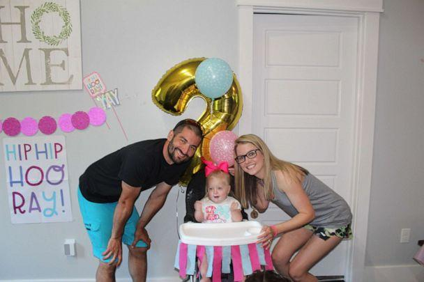 PHOTO: Hunter and Elizabeth Sykes with their daughter, Tynleigh. (Elizabeth Sykes)