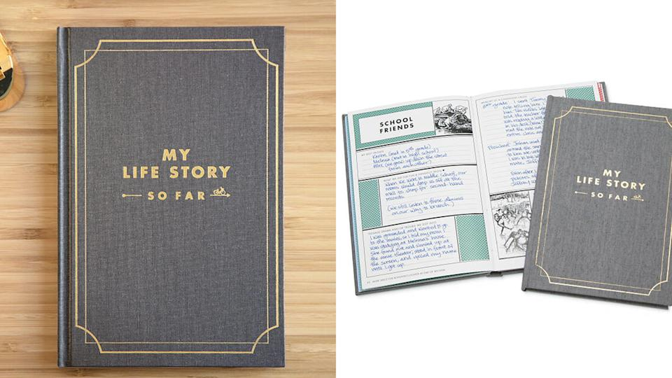 """Best gifts for grandma: """"My Life Story So Far"""" journal"""