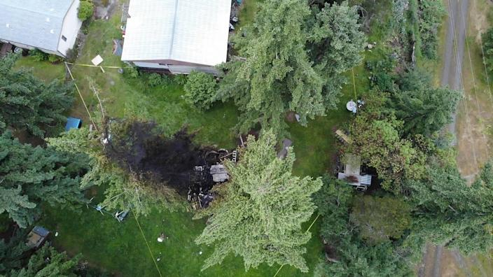 A Port Hadlock, Washington, man lost his left arm and a 6-year-old had burns on her head when a bomb detonated, the Jefferson County Sheriff's Office said.
