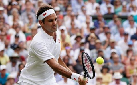 <span>Roger Federer lost the first set against Kei Nishikori but it was no more than a bump in the road</span> <span>Credit: EPA-EFE/REX </span>