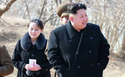 Kim Yo-Jong, Kim's sister, is due to arrive in South Korea on Friday for the opening ceremony - Credit: AFP