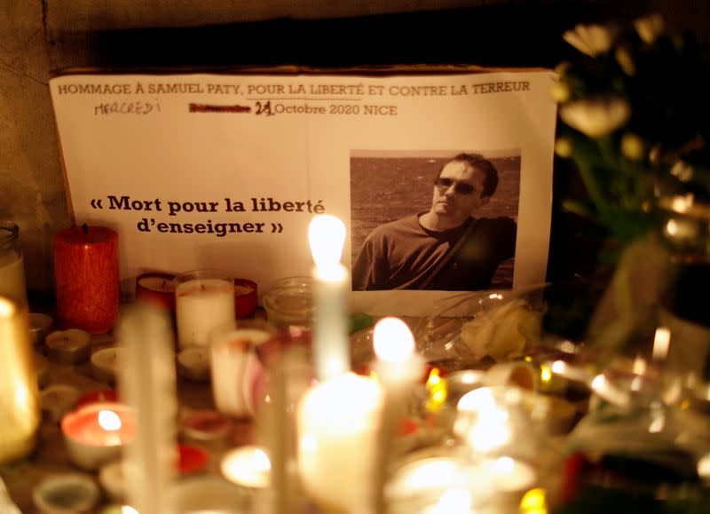 FILE PHOTO: National tribute to beheaded French teacher Samuel Paty