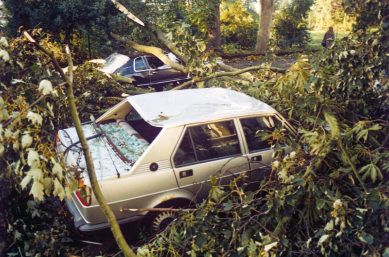 <strong>The storm resulted in 18 deaths and caused £1 billion of damage</strong> (PA)