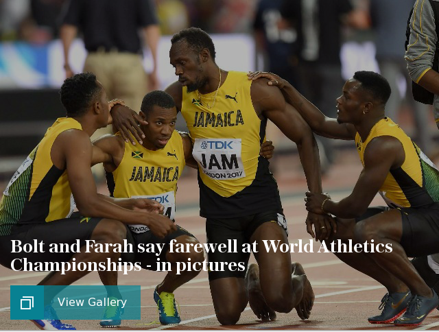 Bolt and Farah say farewell at World Athletics Championships - in pictures